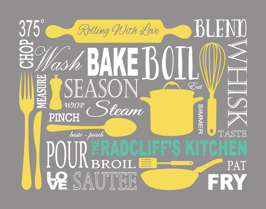 Elegant Cuisine Art Personnalisés Tirages Subway Art Et Par 7WondersDesign · Kitchen  StoreKitchen ...