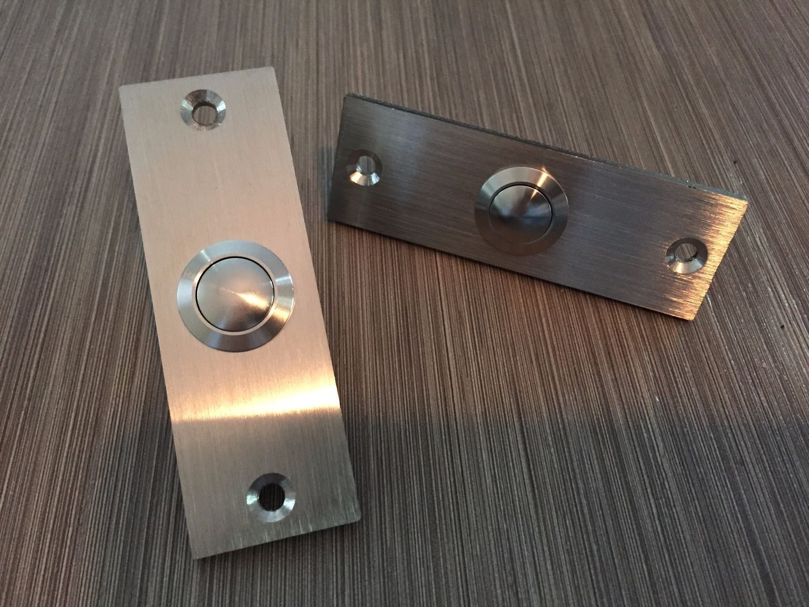 """1x Stainless Steel Small Rectangle Doorbell 1"""" W X 3"""" H picclick"""