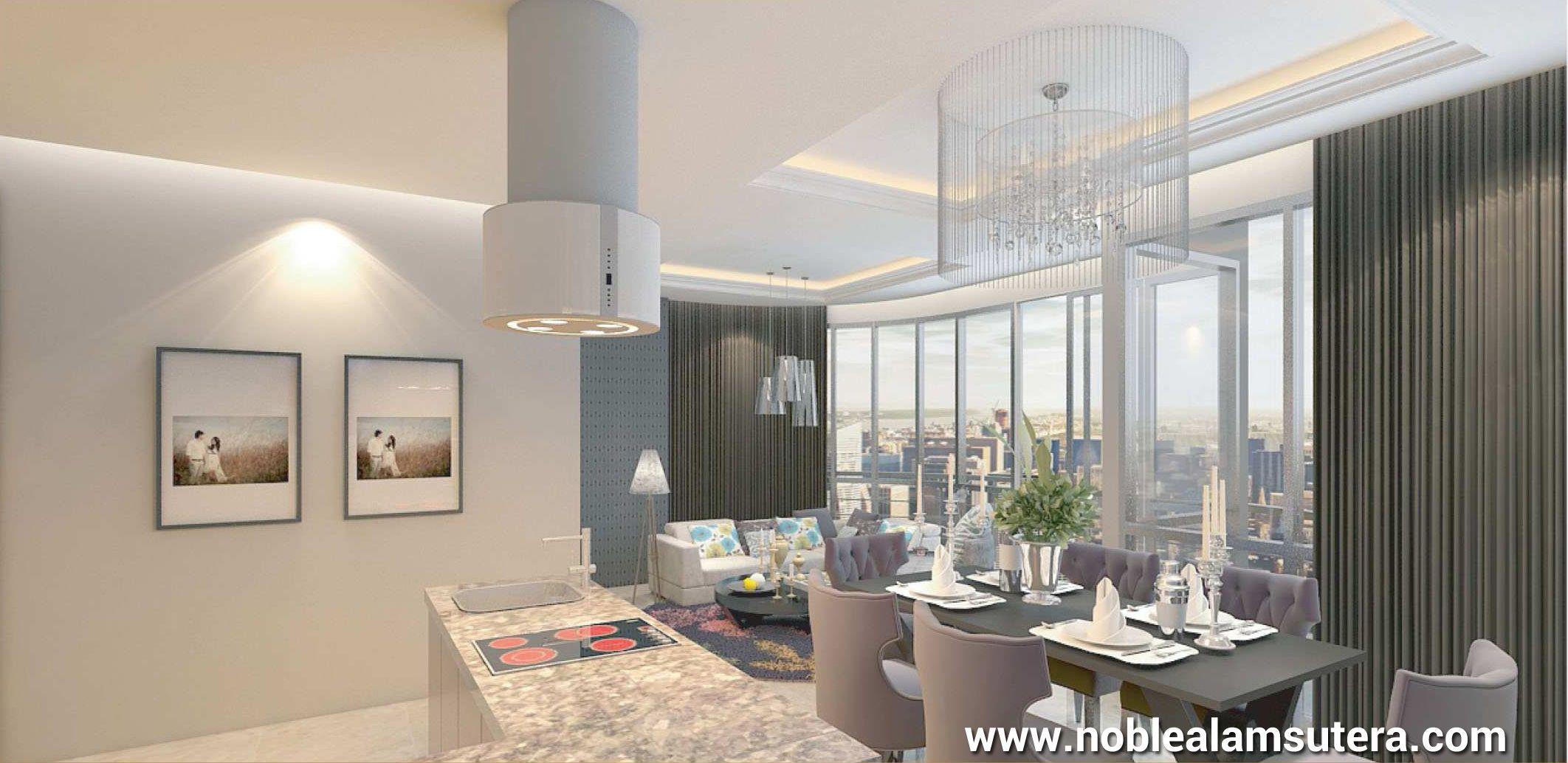 Interior design apartemen - Contoh Interior Design Apartemen The Noble Alam Sutera