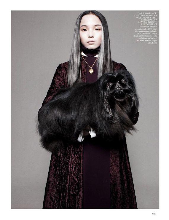 Xiao Wen Ju – Vogue UK August 2012