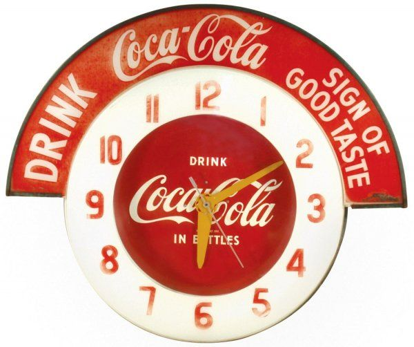 Vintage Coca Cola Clocks Things Go Better With Coca Cola