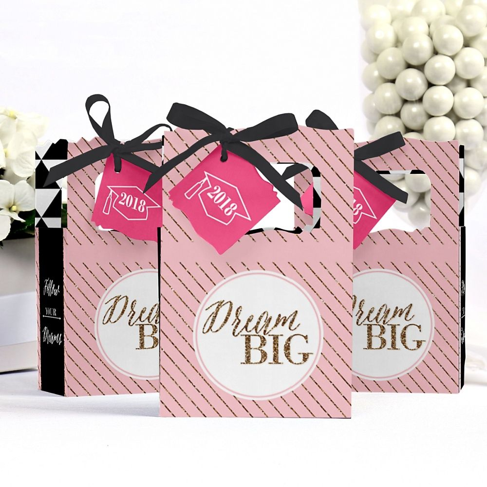 Dream Big - Personalized Graduation Favor Boxes | BigDotOfHappiness ...