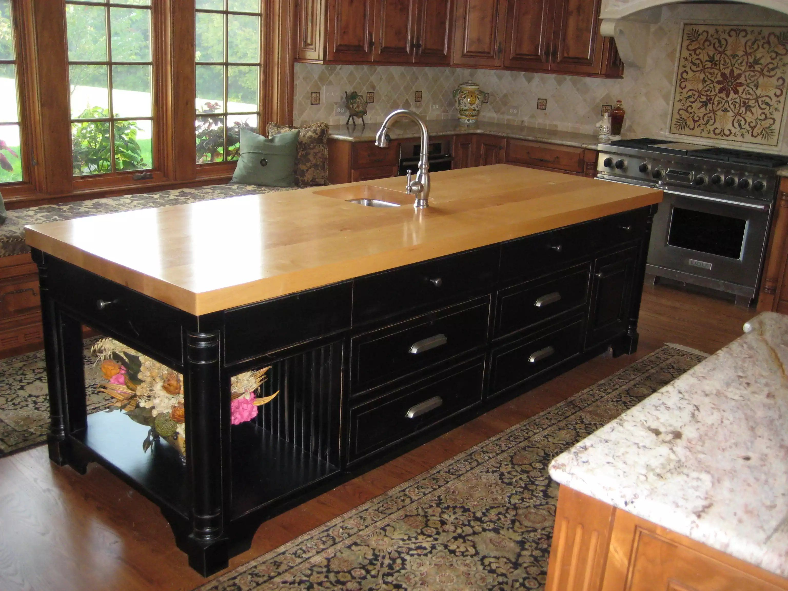 wood walnut sinks undermount overmount wooden drainboard countertops with countertop