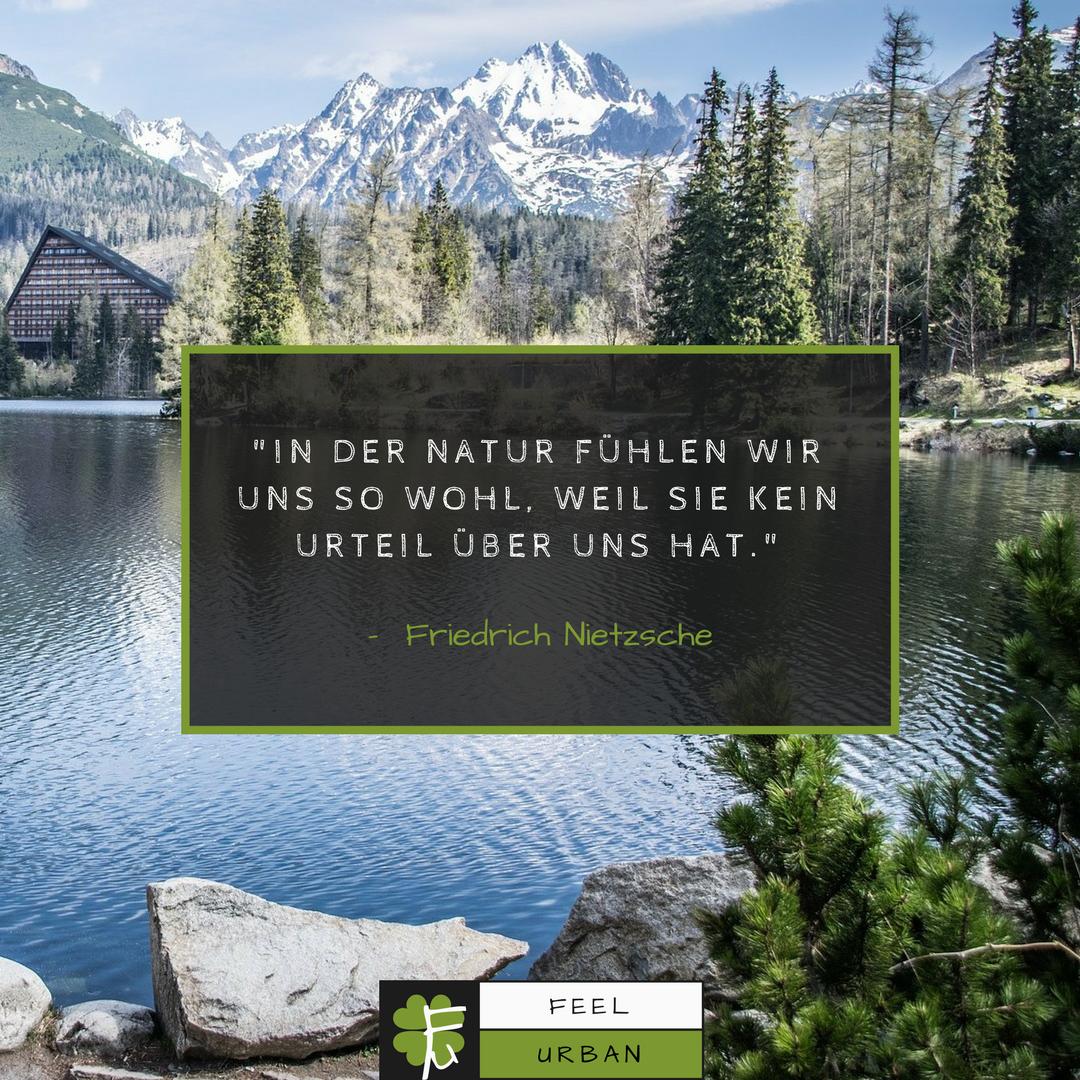 Feel Urban Friedrich Nietzsche Natur Zitate