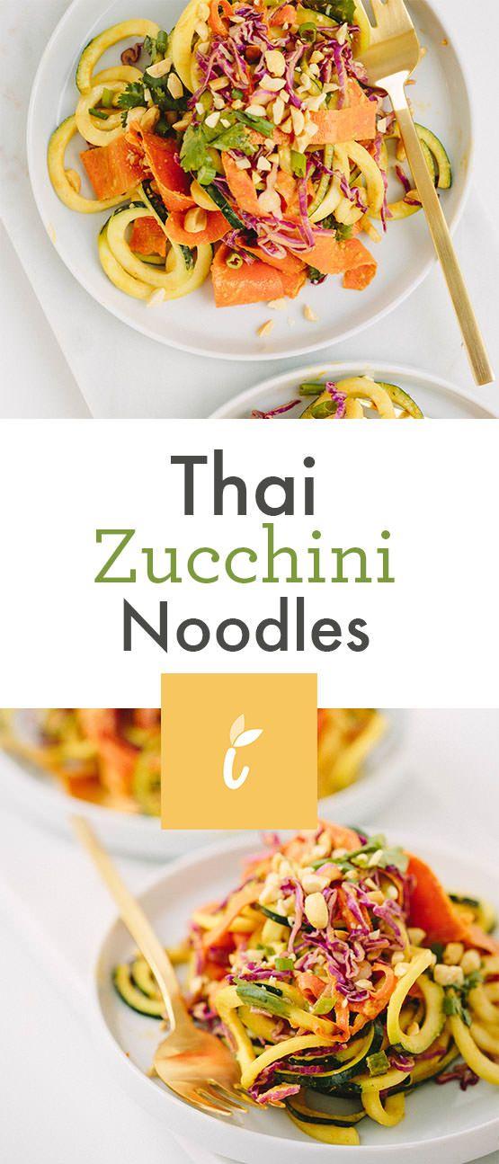 thai zucchini noodles  zucchini noodles ketogenic