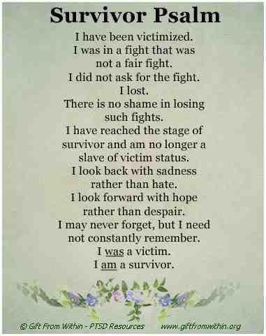 Survivor Psalm Quotes Pinterest Ptsd Emotional Abuse