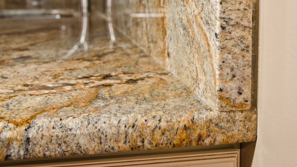 River Yellow Prefab Granite Countertop For Apartment Countertops Granite Countertops Granite Countertop Designs