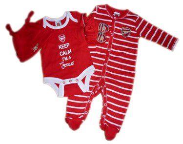 Cute Personalised gift ARSENAL Football BABYGROW//Vest//Bodysuit//Romper Boy//Girl