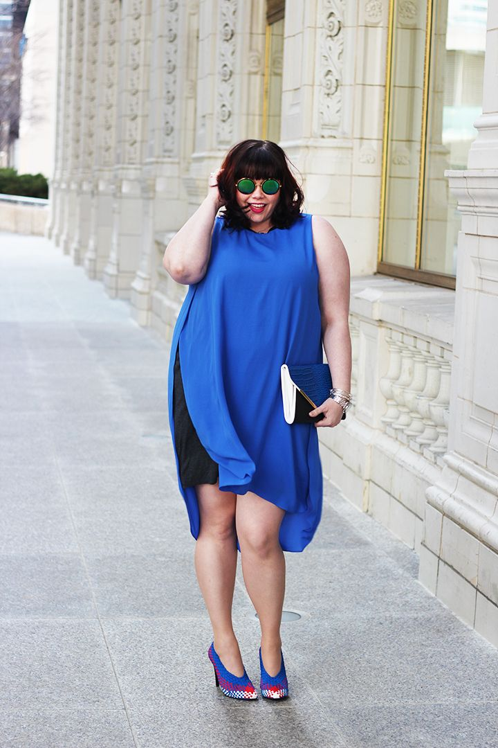 Sporty Chic in this electric blue Rachel Roy Plus Size dress from Macy's! The…