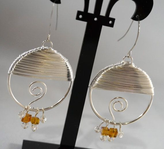 Modern Contemporary Beaded Dangle Earrings by SpecialtyBoutique, $16.00