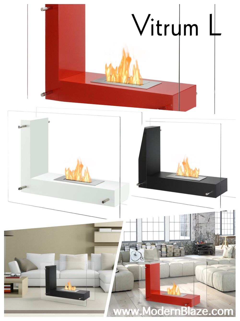 Ignis Vitrum L Red 32 Free Standing Ethanol Fireplace In Outdoor Fsf 005r Freestanding Fireplace Ethanol Fireplace Living Room Panelling