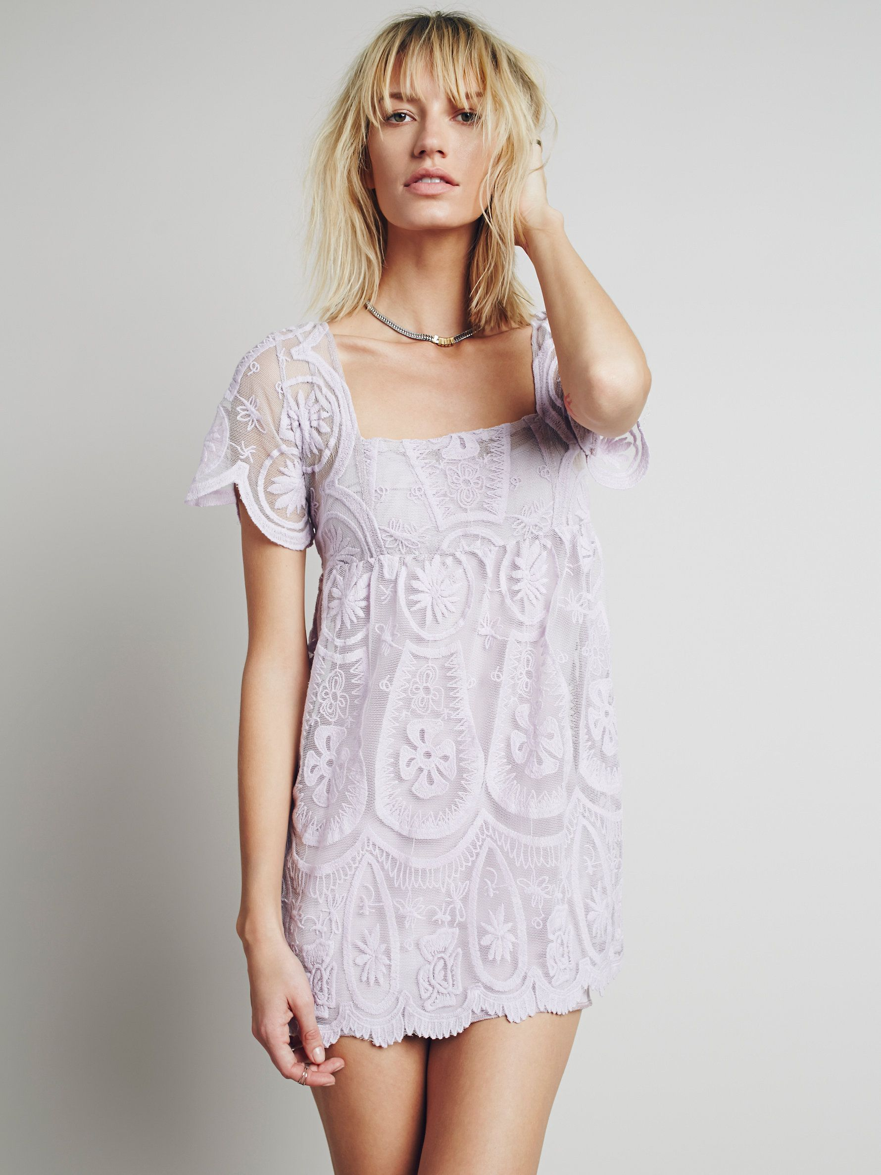At free people pixie short sleeved dress in lilac styles that rock