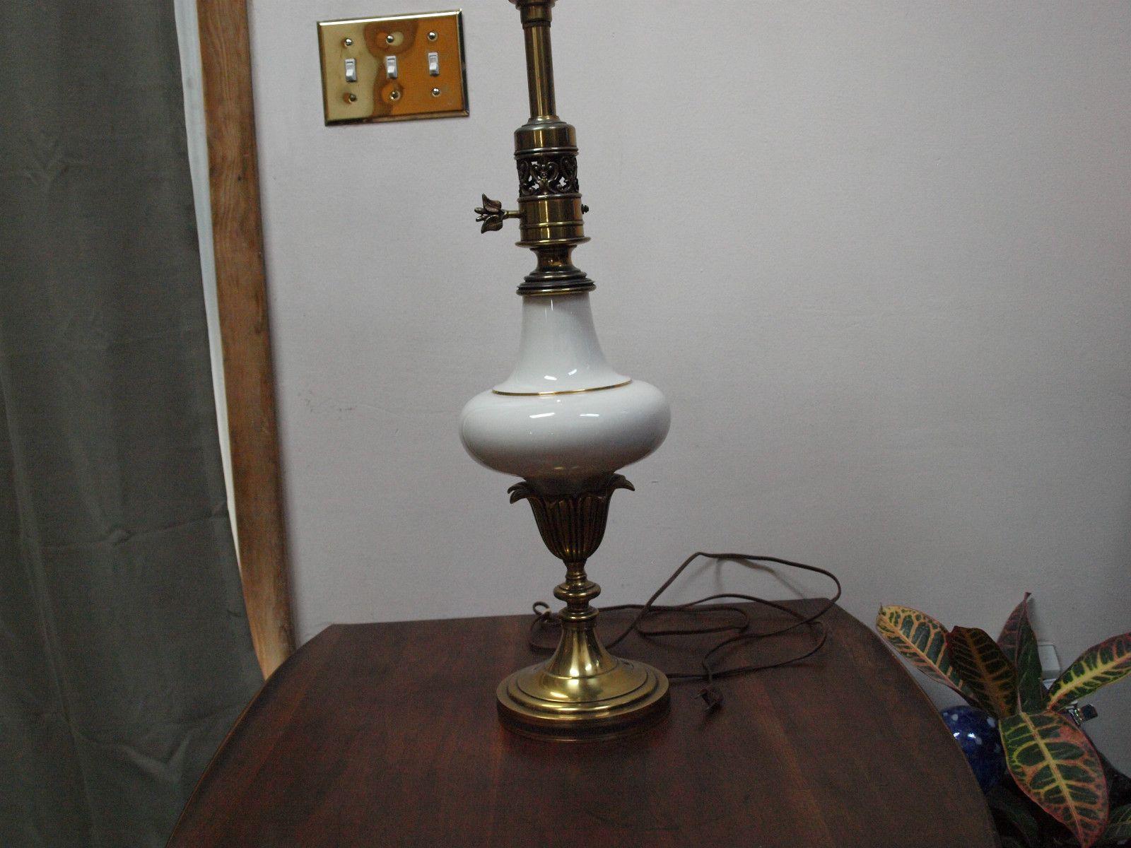Antique Stiffel Solid Brass & Lenox Porcelain Lamp ...