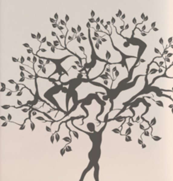 Sticker Arbre De Vie Dessines A La Main Et Laser Par Stagartwork Metal Tree Wall Art Metal Tree Metal Wall Art