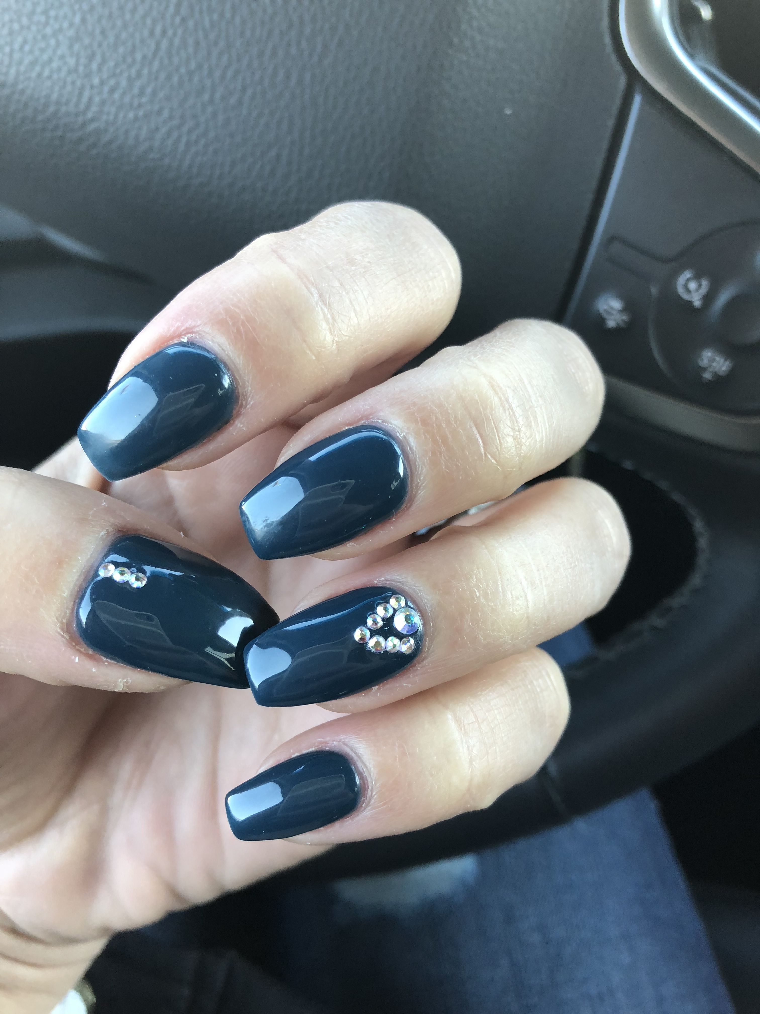 Philadelphia Eagles gel coffin nails. color is awesome by OPI ...
