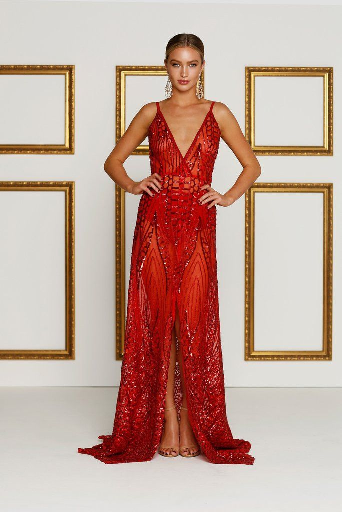 Cristal Gown - Red | Gowns, Australia and Ships