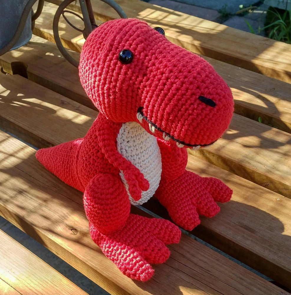 Travis the T-Rex, US Terminology - Dinosaur Amigurumi ...