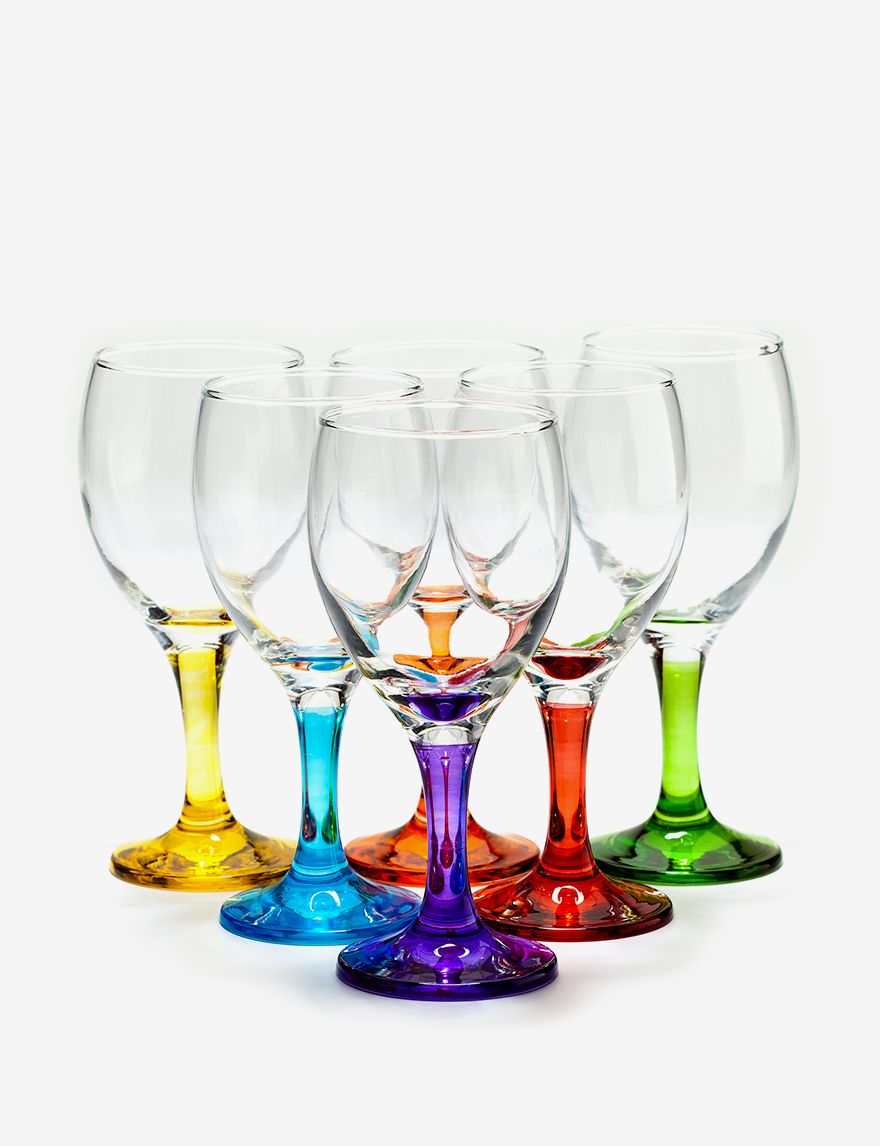 Home Essentials Set of 6 Carnival Wine Glasses|Stage Stores | For ...