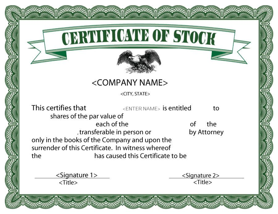 Stock Certificates Template 40 Free Certificate Templates Word Pdf Lab By Templatelab Enter Your Unique Training Information On