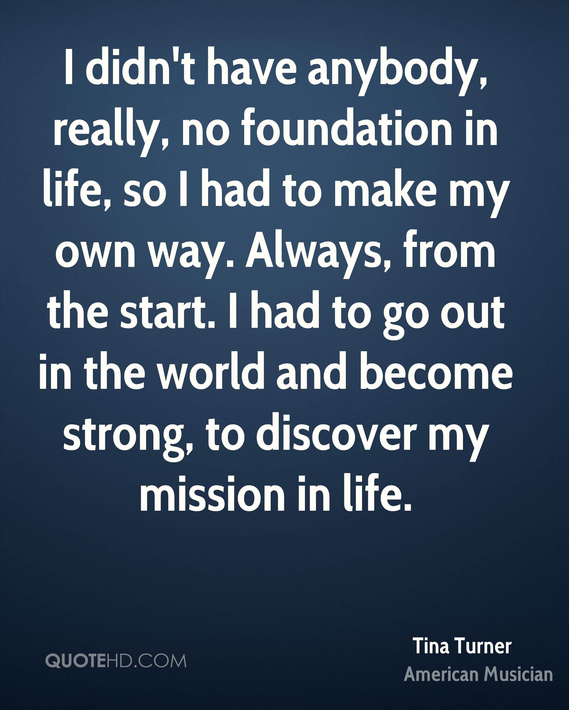 Genial Tina Turner Quotes