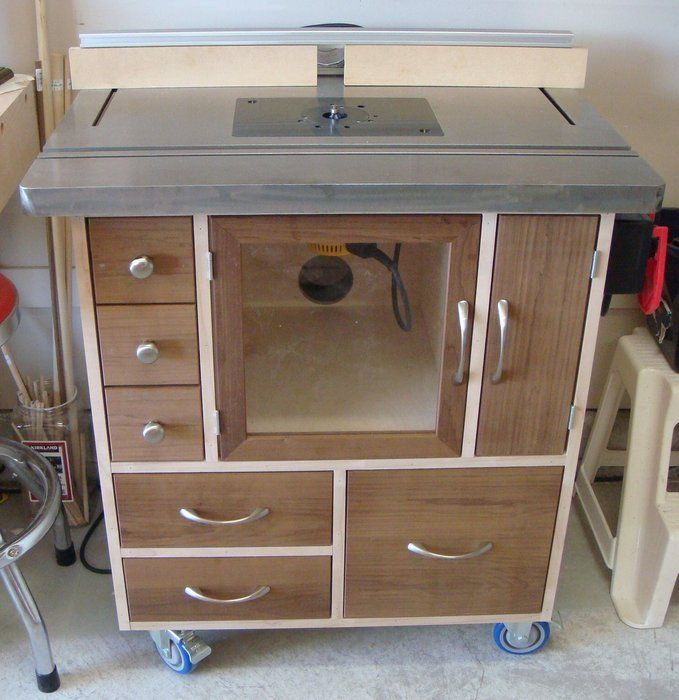 Diy Woodworking Router Table Cabinet Shop Tools Router Table