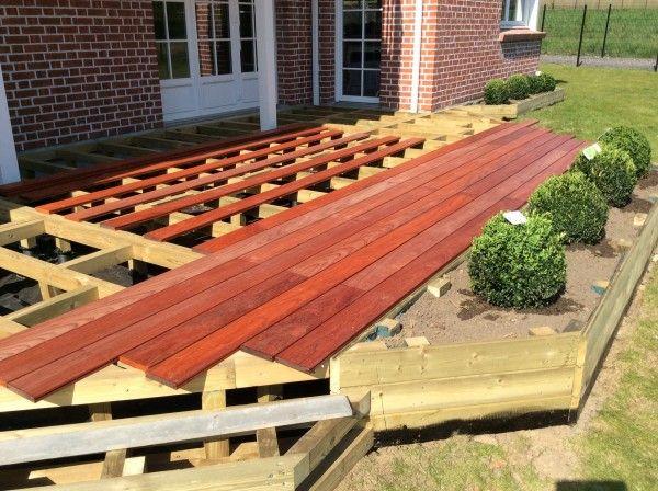 Terrasse en bois surélevée  étape 13 Terrasse Pinterest - construction terrasse en bois sur parpaing