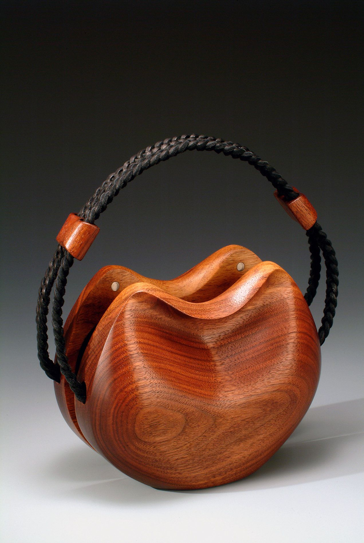 Courtney Purse By Kimberly Chalos Wood Purse In