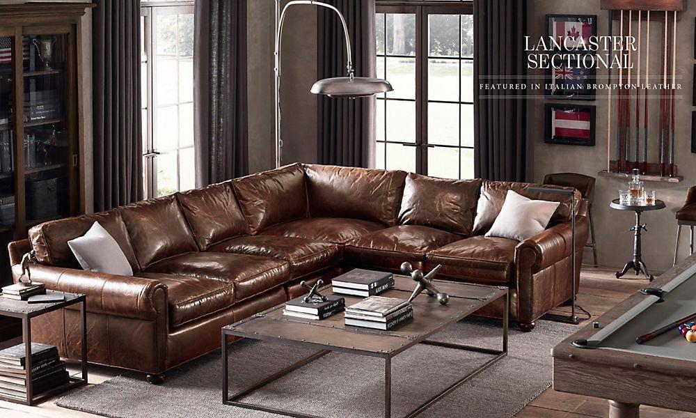 Restoration Hardware Living Room Leather Leather Living Room Furniture Leather Sofa Decor