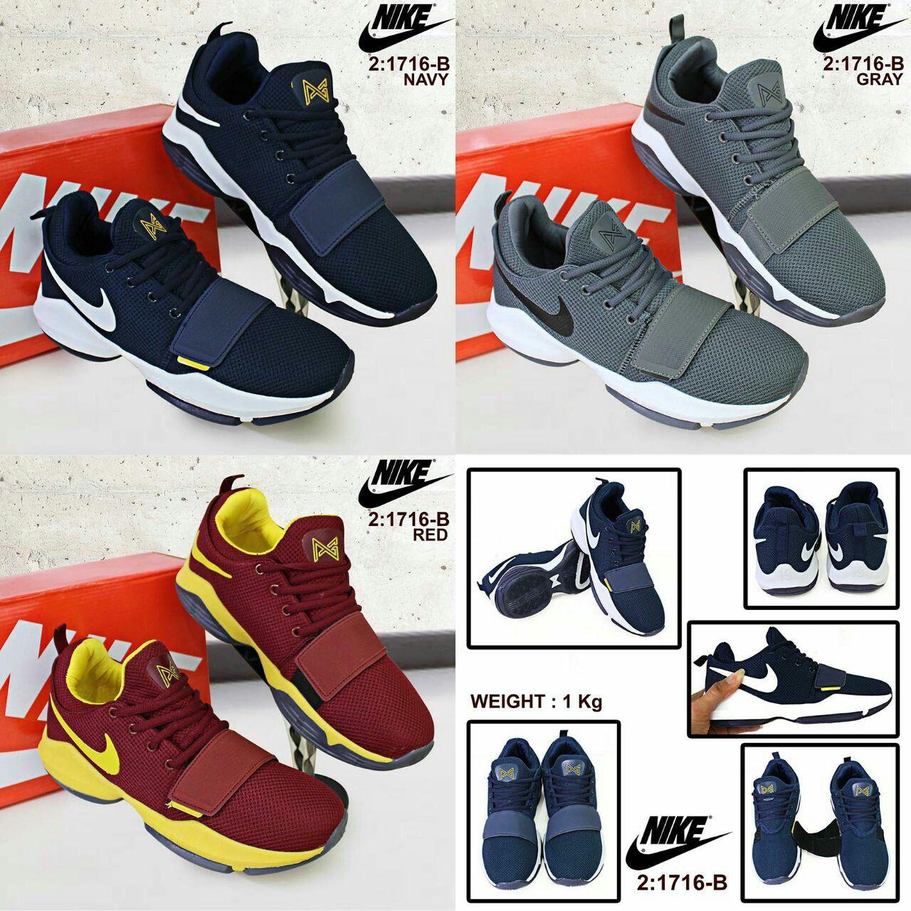 Sepatu Merek Nike Seri 1716 B Kualitas Semprem Warna Greay Red