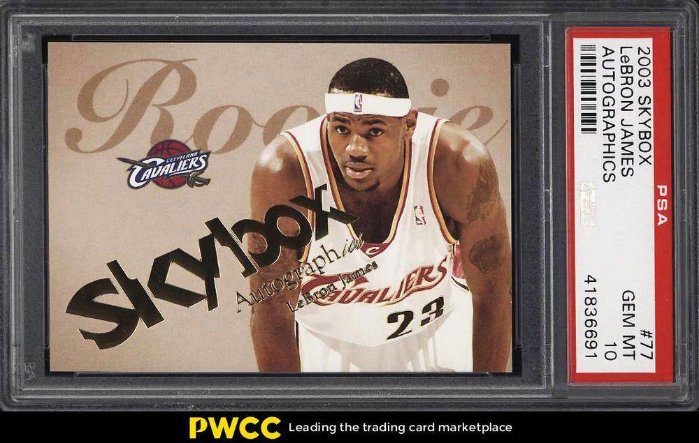 2003 skybox autographics lebron james rookie rc 1500 77