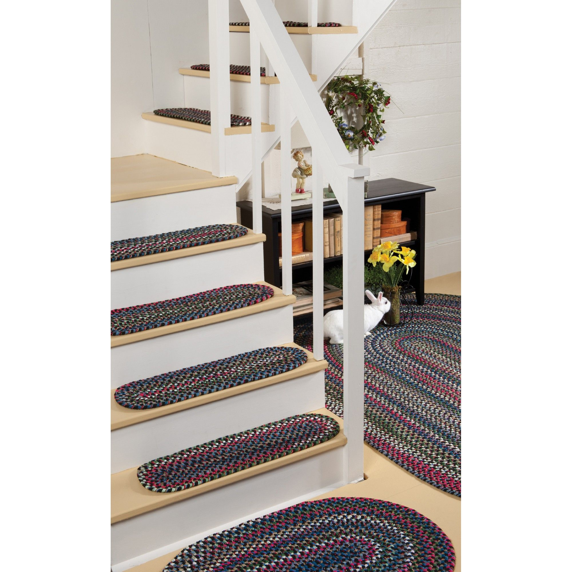 Best Old Orchard Braided Rug Stair Tread Rugs Stair Treads 400 x 300