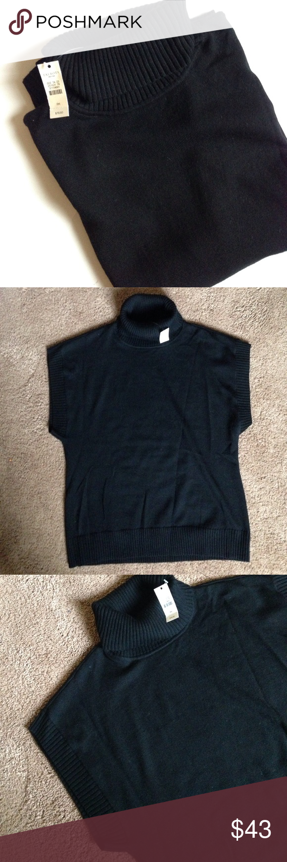 Talbots turtle neck short sleeve sweater NWT | Talbots, Turtle and ...
