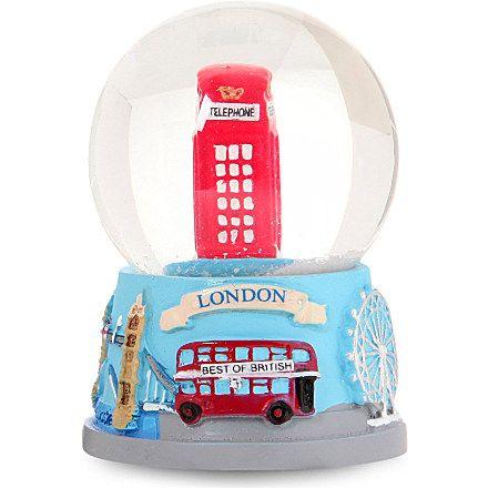 Christmas telephone box snow globe boules de neige et snow globes boule de neige - Boule de noel en anglais ...