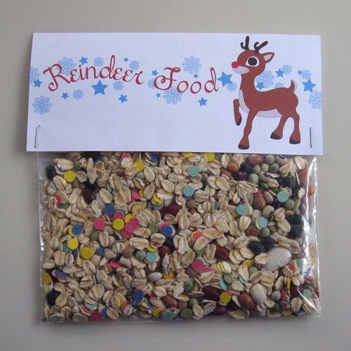 Free Printable: Reindeer Food Label