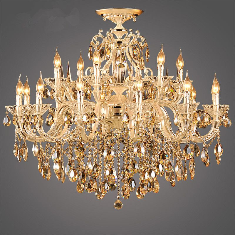 Find more chandeliers information about modern luxury 9k gold find more chandeliers information about modern luxury 9k gold crystal chandelier large lustre cognac living room lighting luminaire hanging lamp home aloadofball Image collections