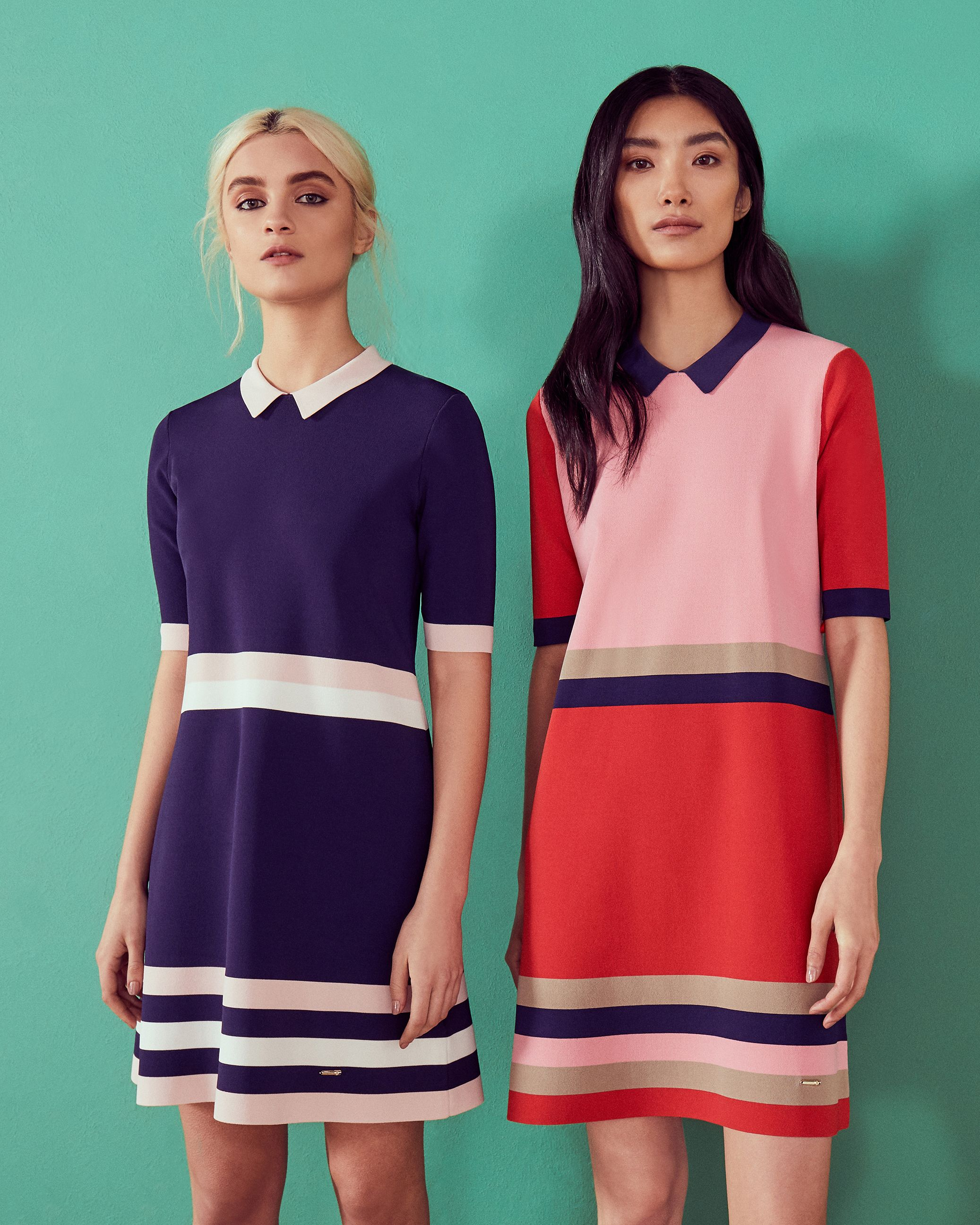 d02377d44 SHOP CBN  Get your wardrobe summer ready and step up your style in Ted s  ORIGAMI vibrant colour block knitted dress.