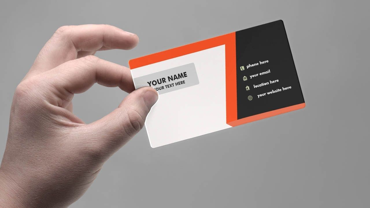 How To Make Business Card Design Tutorial Photo