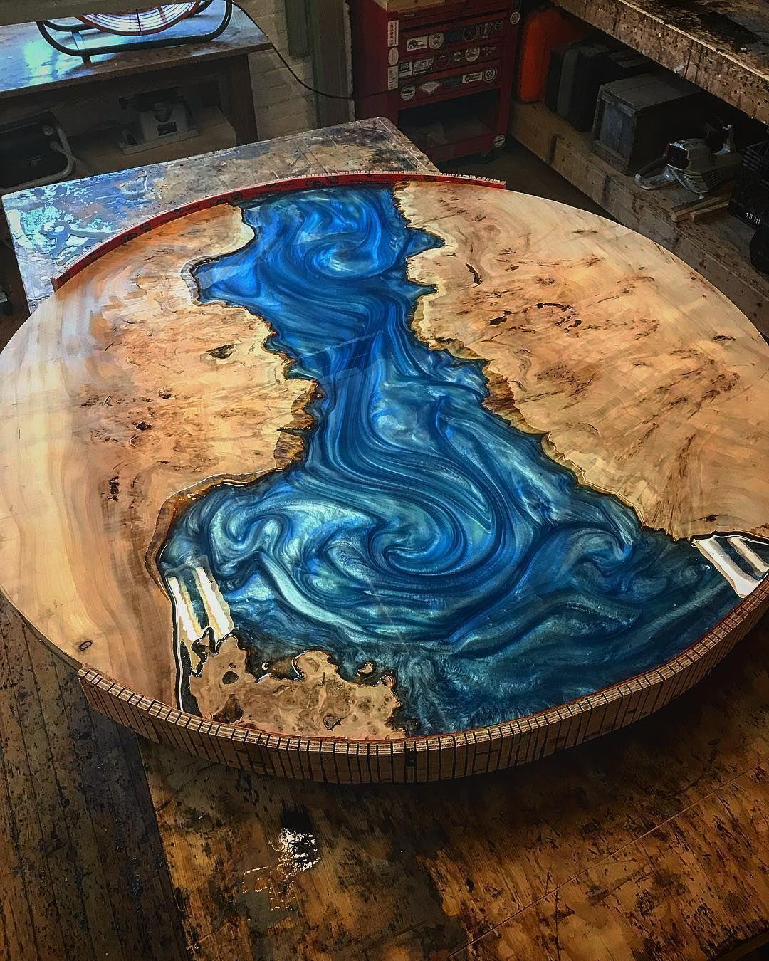 World On On Your Table Circular Table Design Blue Ocean