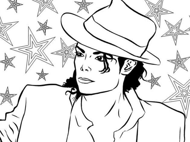 Michael Jackson Coloring Pages Draw Coloring Pages Michael