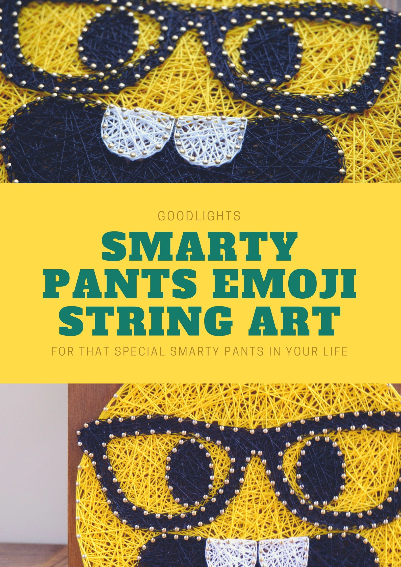 Know-it-all smarty pants modern wall emoji decor in yellow by ...