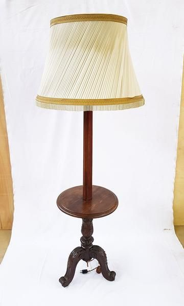 Antique candelabra floor lamp metal and wood above