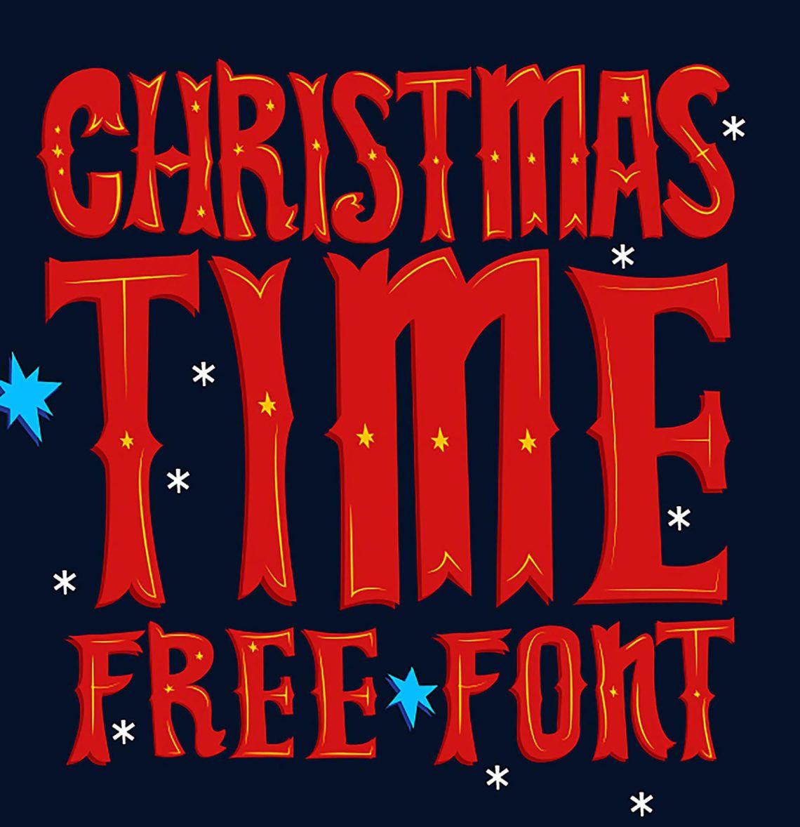 Free download Christmas Time Display font Christmas