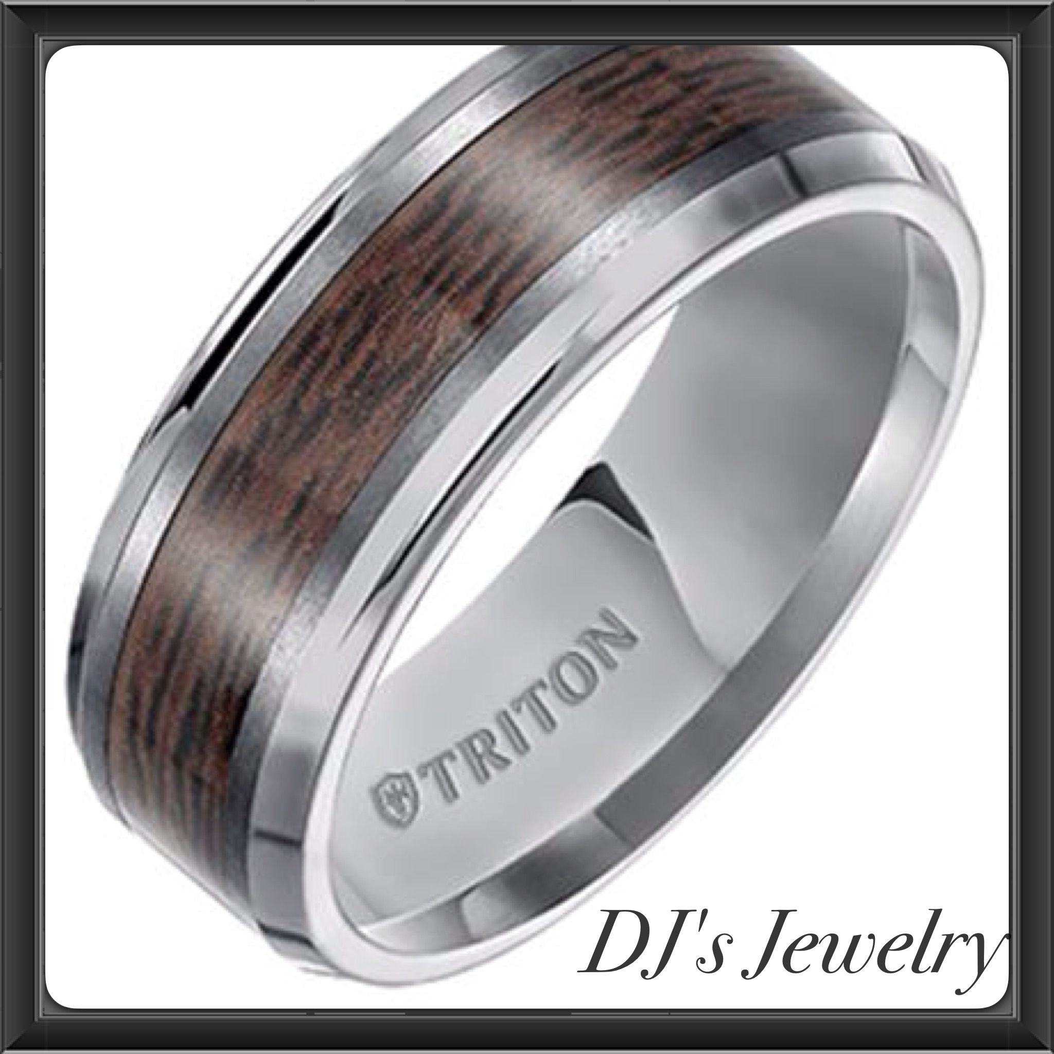 band finish faceted rings wedding tungsten triton with white bright pattern diamond gray