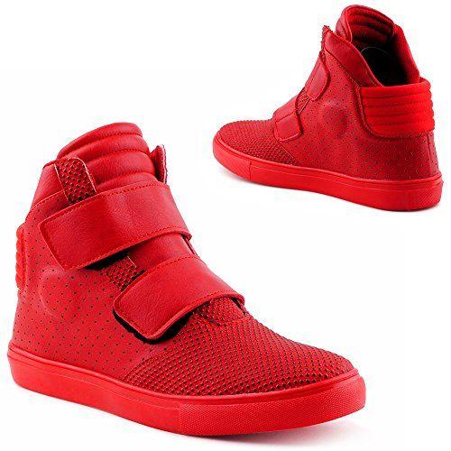 Herren Damen High Top Sneaker Basketball Sport Freizeit Schuhe Rot-2 EU 45:  Amazon.de: Schuhe & Handtaschen