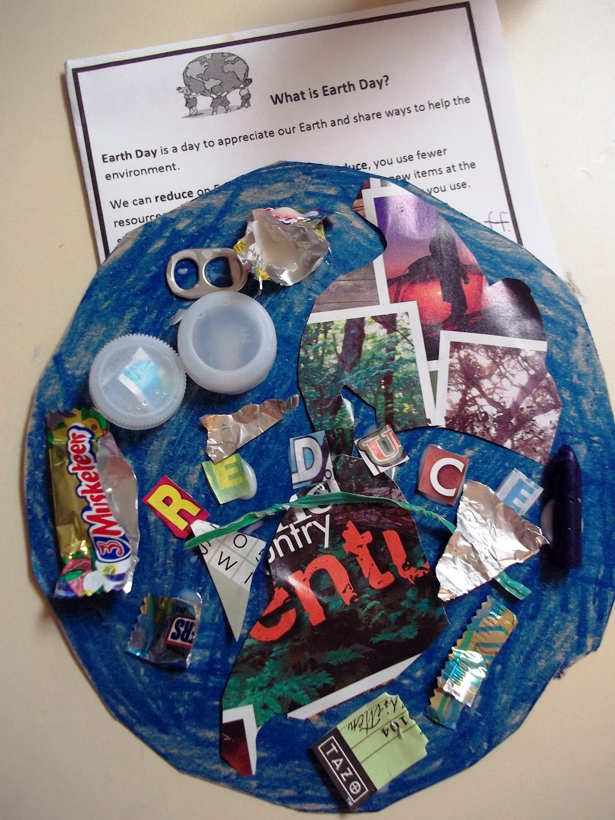 Reduce reuse recycle activities - Earth Day Glyph Reduce Reuse Recycle Project For Kids