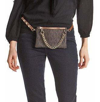 4bfd9c0a2ef9cb I just love fanny packs. Ordered this from Macy's bc it has high reviews: Michael  Kors Chocolate MK Logo Belt Bag.