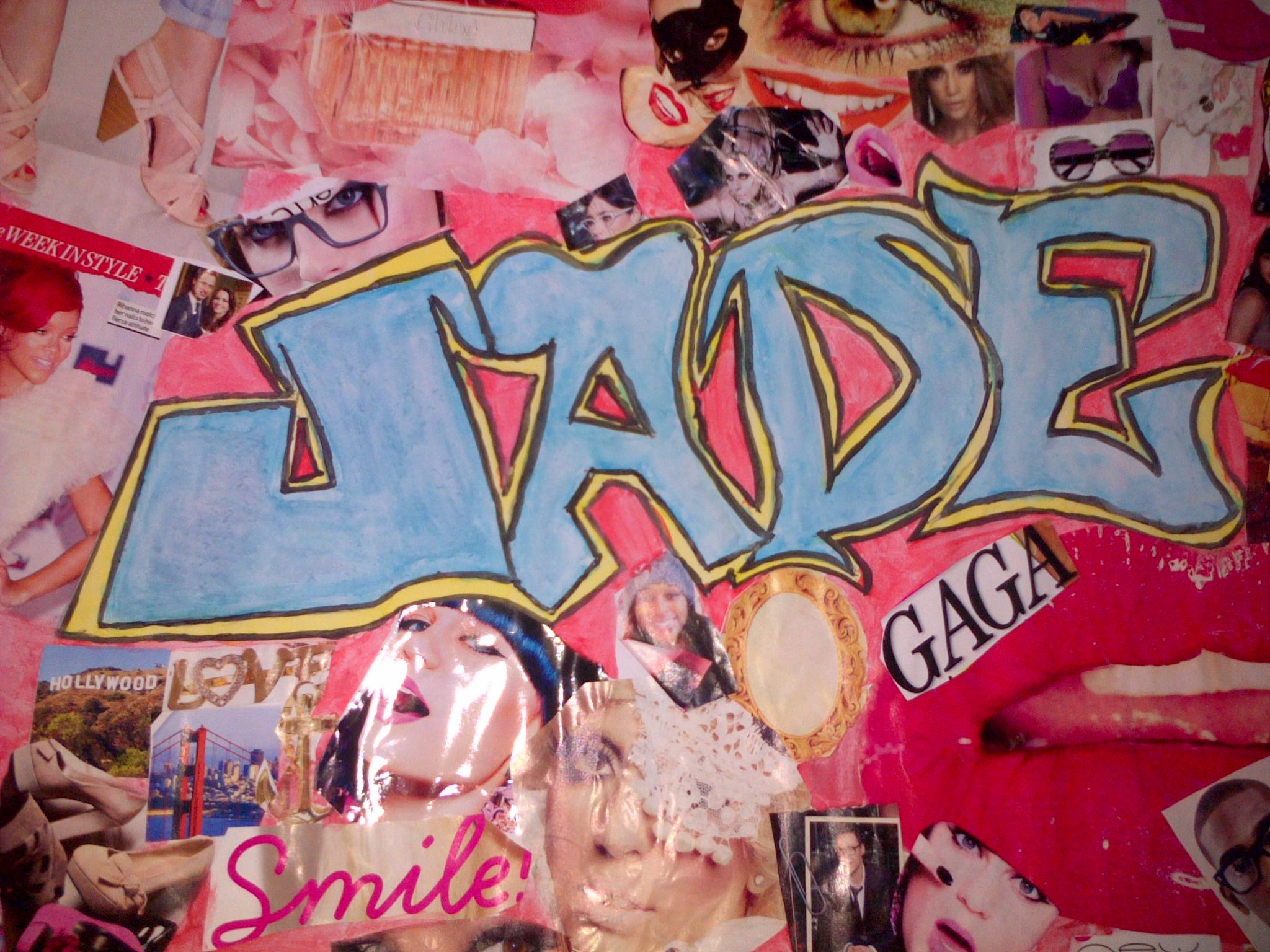 my collage name cut of magazine and graffiti | bedroom ideas