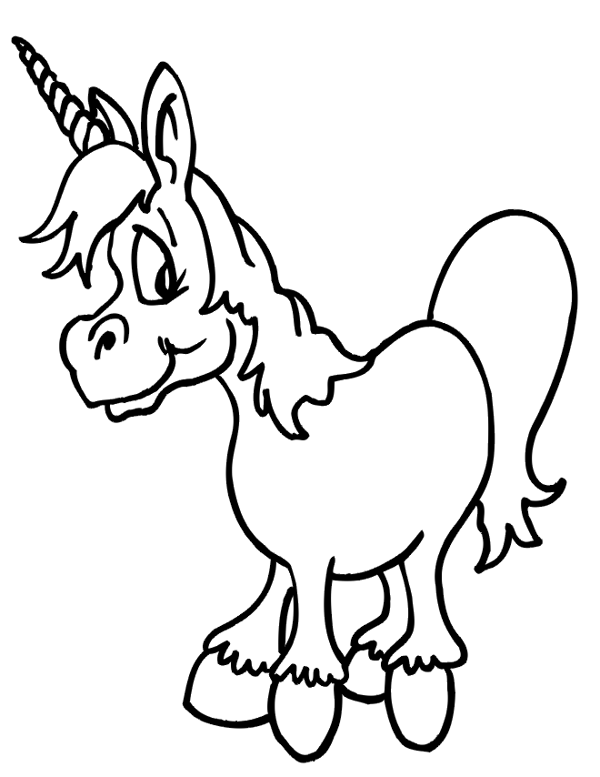 Adorable Unicorn - (theprintablelab) | Coloring Pages | Pinterest