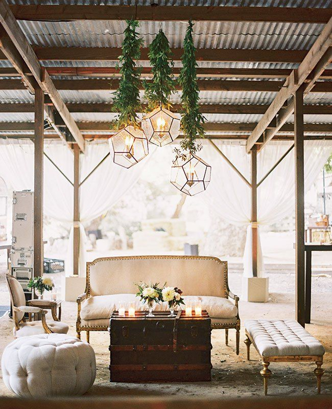 Outdoor Wedding Seating Ideas: This Couple Had Four Different Themed Lounge Areas At