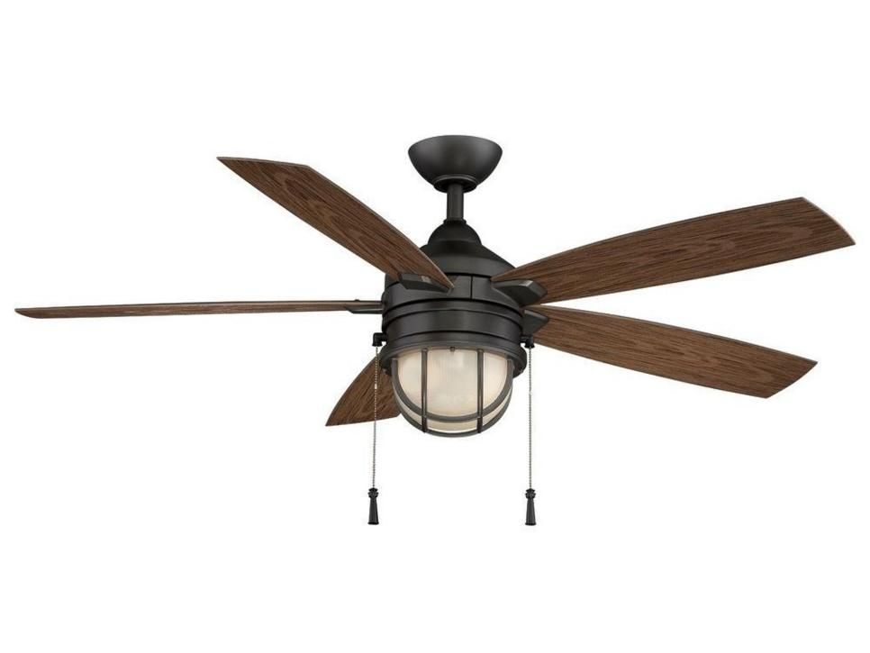 Whether Or Not Your Home Is On The Water Your Ceiling Fan Selection Can Bring In A Nautical Design Without Going Ceiling Fan With Light Fan Light Ceiling Fan